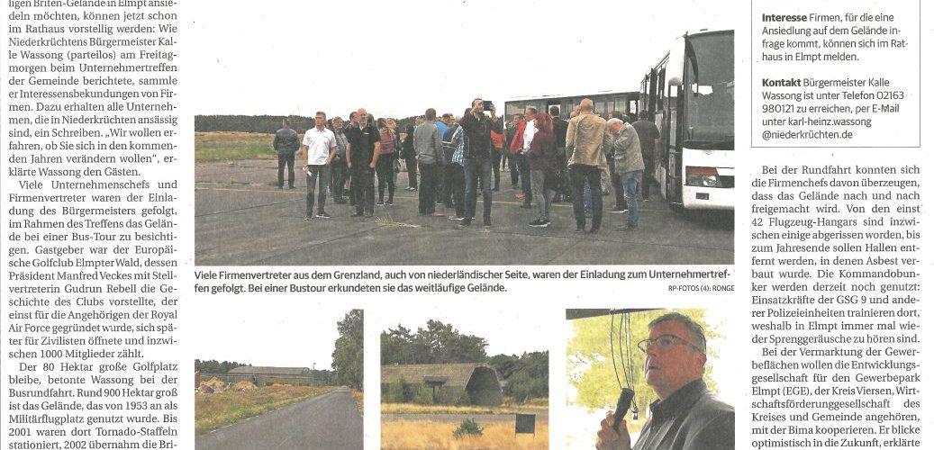 Firmenchefs besichtigen Flugplatz Elmpt