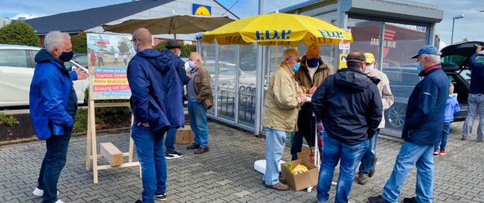 FDP-Infostand bei Trinkgut am 05.09.2020 10:00Uhr – 12:30 Uhr