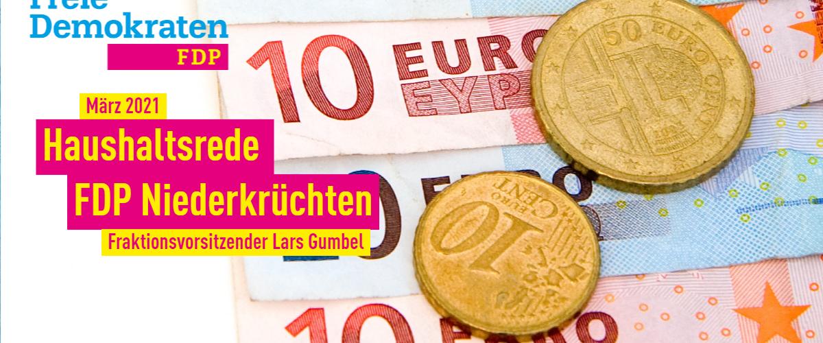 Haushaltsrede FDP Niederkrüchten