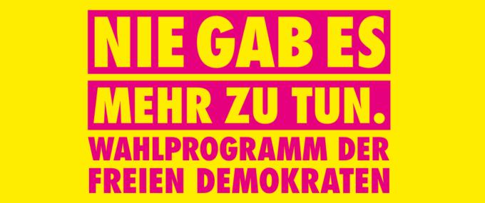 DAS PROGRAMM DER FREIEN DEMOKRATEN ZUR BUNDESTAGSWAHL 2021